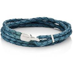 Miansai Men's Trice Double-Wrap Bracelet (380 QAR) ❤ liked on Polyvore featuring men's fashion, men's jewelry, men's bracelets, blue, mens watches jewelry, mens engraved bracelets, mens wrap bracelet, mens bracelets and mens engravable leather bracelets