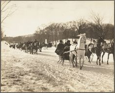 Beacon Street. Sleighing on the boulevard, February 1901 | Street views: Beacon Street, Boston