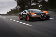 Bugatti has set another world record! This time, theyve built the fastest open top production car, the Bugatti  Veyron Grand Sport Vitesse