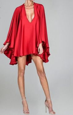 Gorgeous! Evelyn Belluci Red Cape Dress
