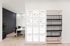 Wall Memo Calendar, calendrier intemporel pour l'organisation du bureau, édition Moulin Flèche
