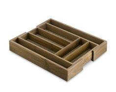 Walnut Expandable Flatware Tray