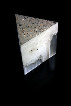 """Entropy Study 1 by Harry Morgan, UK. """"The concrete binds the myriads of glass string as one object. There is a tension between the fragile, transparent glass and the brutal, dense concrete. Geometric Sculpture, Abstract Sculpture, Sculpture Art, Concrete Sculpture, Concrete Art, Harry Morgan, Arctic Landscape, Cast Art, Kiln Formed Glass"""