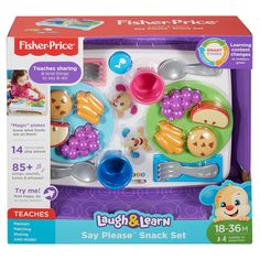 Fisher-Price Laugh & Learn Say Please Snack Set | DRF59 | Fisher-Price