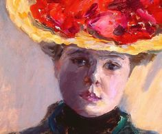 Pierre Bonnard (French, 1867–1947), Girl in Straw Hat (Femme au Chapeau Rouge), 1903 (detail)