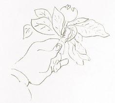 Henri Matisse, Matisse's hand holding a fruit, 1944