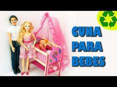 Cómo hacer una cuna para los bebes de tus muñecas - Manualidades para muñecas - YouTube