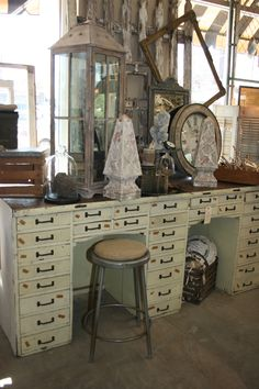 watchmaker cabinet, storage, vintage Sweet Salvage, industrial www.sweetsalvage.net www.blog.sweetsal...