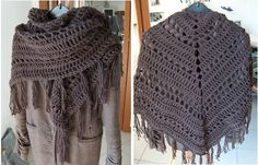 It's a Wrap Shawl! Link will get you to patter I used (with a lot LESS fringe and LESS rows).