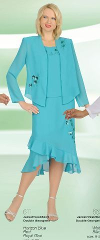 Christie 611 Mother of the Bride Tealength, Semi Formal Dresses