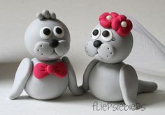 Seal Wedding Cake Topper by fliepsiebieps1, via Flickr