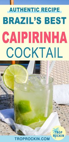 Heres how to make a Caipirinha drink. Such a refreshing cocktail and this recipe is direct from Brazil. During the 2 yea Party Drinks Alcohol, Bar Drinks, Cocktail Drinks, Beverages, Caipirinha Recipe, Caipirinha Cocktail, Mojito Recipe, Brazilian Drink, Brazilian Cocktail