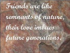 Friendships Like Remnants of Nature!