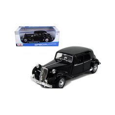 1952 Citroen Black Diecast Model Car by Maisto Packing Boxes, Rubber Tires, Diecast Model Cars, Scale, Gender, Engineering, Wheels, Exterior, Plastic