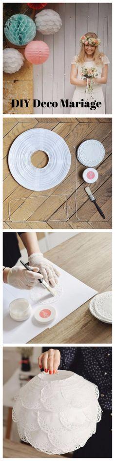 DIY deco de mariage suspension en papier style dentelle decoration murale à faire soi meme par la do it box