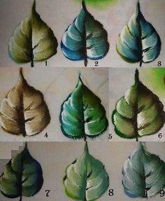pintura em tecido folhas passo a passo