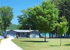 Bywater: a 3BR, 2BA vacation rental cottage on Little Glen Lake just 2 miles from downtown Glen Arbor and across from the Sleeping Bear Dunes. www.lvrrentals.com.