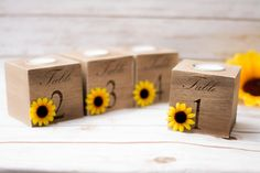 table numbers wedding Sunflower Wedding Centerpieces table Number Holders Table Number Holder Wedding Candle holder for Wedding Party Decor by HappyWeddingArt on Etsy https://www.etsy.com/ca/listing/464603800/table-numbers-wedding-sunflower-wedding
