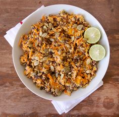 Carrot, Lentil & Raisin Salad - This recipes sounds amazing. Definitely a dish that makes for easy lunches/snacks Deliciously Ella Recipes, Carrot Salad, Veggie Recipes, Whole Food Recipes, Salad Recipes, Vegetarian Recipes, Cooking Recipes, Veggie Food, Vegan Lunches