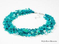 Crochet+Kits   DIY Crochet Floral Abundance Necklace Kit / by manarata on Etsy
