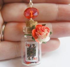 Alice in wonderland bottle charm