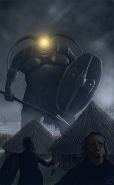 "The Irish Cyclops Balor was a one-eyed god of death, and the most formidable of the Fomorii, the violent and monstrous sea gods who ruled Ireland before the arrival of the Tuatha De Danann, the ""nicer"" gods and goddesses."