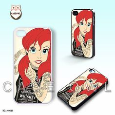 Phone cases, iPhone 5 case, iPhone 5S case, iPhone 5C case, iPhone 4/4s case, Tattooed Ariel, iPhone Case, Case for iPhone-40035