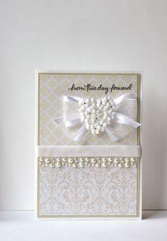 Wedding Handmade Card via Etsy
