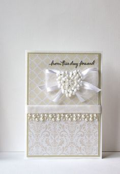 Wedding Handmade Card via Etsy