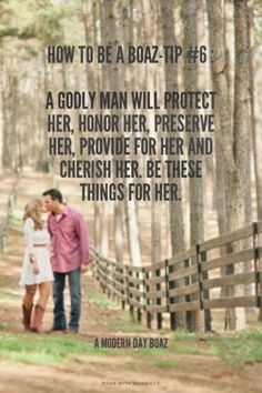 godly relationship How to be a Boaz-Tip : A godly man will protect her, honor her, preserve her, provide for her and cherish her. Be these things for her. - - A Modern Day Boaz Godly Dating, Godly Marriage, Godly Relationship, Love And Marriage, Marriage Advice, Catholic Dating, Marriage Thoughts, Christian Relationships, Christian Marriage