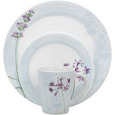Corelle Impressions 16-Piece Dinnerware Set Summer Meadow  sc 1 st  Pinterest & Corelle Cherry Blossom Square Dinnerware Set (Serves 4) 16pc ...
