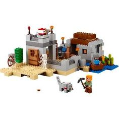 LEGO Systems Minecraft 21121 The Desert Outpost for sale online Lego Minecraft, Minecraft Party, Minecraft Videos, Minecraft Crafts, Van Lego, Lego Construction, Minecraft Creations, Lego Group, Lego Pieces