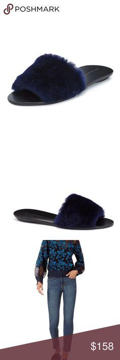 Loeffler Randall Isabel Slip-on Flat Slide Sandal Shoes Size 8 New In Box