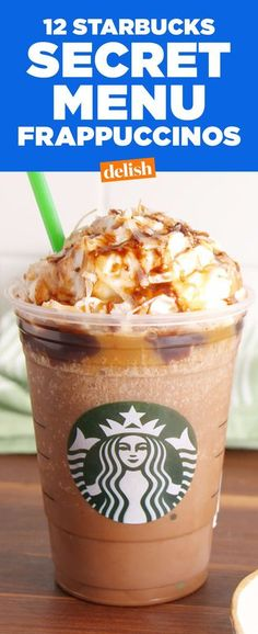 Starbucks Secret Menu Frappuccinos You Need To Try - Starbucks Secret Menu Frappuccinos You Need To Try Immediately How Have We Gone This Long Without A Twix Frappuccino Café Starbucks, Starbucks Secret Menu Items, Healthy Starbucks Drinks, Starbucks Recipes, Coffee Recipes, Starbucks Hacks, Best Starbucks Frappuccino Recipe, Special Starbucks Drinks, Homemade Frappuccino