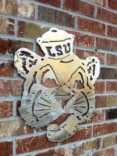 LSU Metal Art Sailor Mike Vintage Mascot Louisiana Football Tiger NCAA Outback