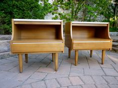 mid century MODERN NIGHTSTANDS end tables by American by CIRCA60, $550.00