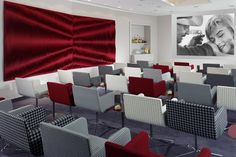 Swissotel, Bremen, Germany. Commissioned by: Gärtner International, Germany. Two separate installations of the red Leaf design was placed in the meeting room and media room of the hotel. Wall design Anne Kyyrö Quinn.