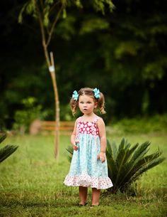 2012 Brights....Custom Twirl Knot Dress 18m - 6 yrs