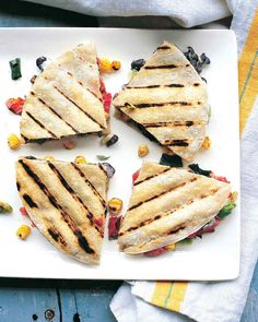 One quesadilla per person is never quite enough, so this recipe makes an extra to share.