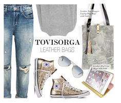"""""""TOVISORGA.com"""" by monmondefou ❤ liked on Polyvore featuring Vince, Converse, Ray-Ban, leatherbags and ToviSorga"""