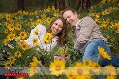 Yellow flowers. You gotta love 'em. #engagement #portrait #spokane #washington #couple #flowers #yellow