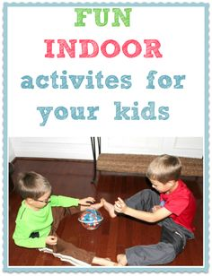 Fun indoor activities to keep your kids busy for hours  15 free ideas!!  These are really easy & you can do them right now!  Love these.