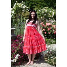 Swan River Rich Red Midi Dress Boho Midi Dress, Summer Months, Swan, Bohemian, River, Collection, Color, Dresses, Women
