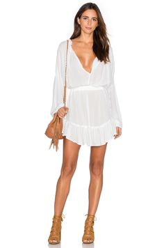 Sincerely Jules Lena Drapery Dress in Ivory | REVOLVE