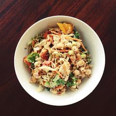 Thoughts By Natalie: Cashew Thai Quinoa Salad With Ginger Peanut Dressing