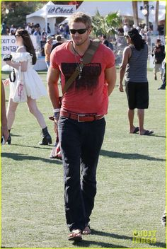 Kellan Lutz (at Coachella Music Festival).