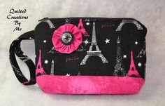 READY To SHIP  Quilted Wristlet / Cosmetic by QuiltedCreationsByMe