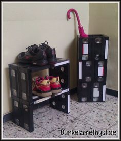 Video tape furniture / VHS-Möbel / Upcycling