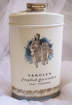 Vintage Yardley English lavender Talc Tin