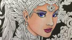 FANTASIA coloring book - color along - prismacolor pencils - part 1 - co...